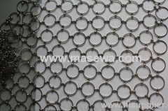 brass material circle mesh ring curtain