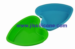big sweet heart silicone bakeware moulds cake bake pan