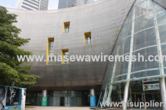 architecture wire mesh as curtain wall
