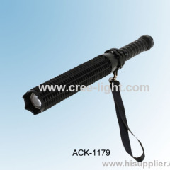 2013 New Multi-function Self-defense Rechargeable CREE R2 LED Focus Flashlight ACK-1179