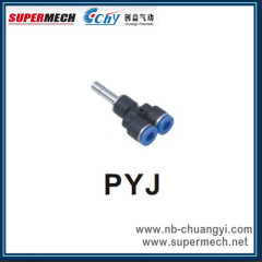Y type pipe plastic pipe fitting