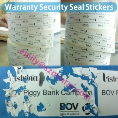 Destructible Package Security Seals
