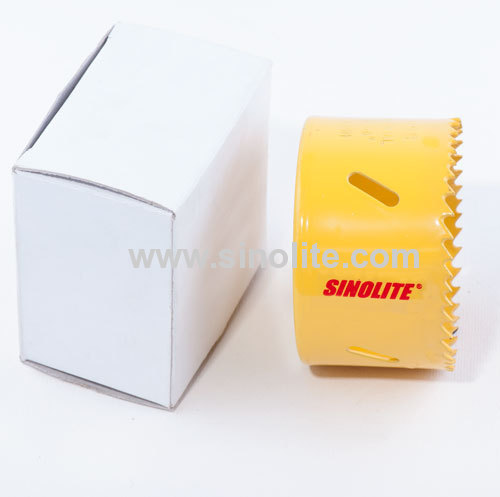 HSS Bi-metal hole saw sharp teeth in yellow color M3 M42 for professional user