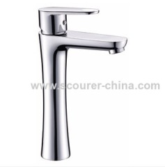 Single Lever Extended Mono Basin Faucet with Zinc handles