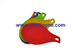colorful silicone spoon and spatula holder
