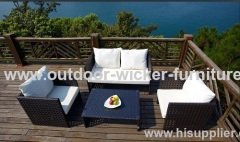 Traditional rattan sofa sets with different woven styles