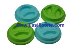 anti bacterial round silicone coffee mug cover lid