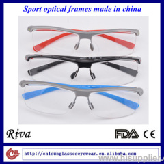 Very light in weight half-frame TR90 sports optical frames