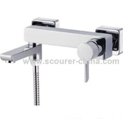 Wall Mounted Exposed Bath Shower Faucet alloy handle