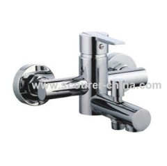 Wall Mounted Exposed Bath Shower Faucet with Shower Kit