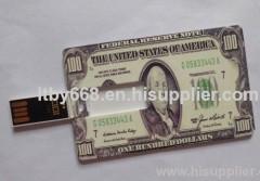 USD dollar credit card usb flash drive