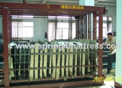 Spring unit compress packing machine