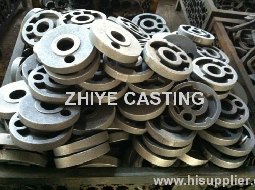 ductile iron casting circle shape for cake machine accessory