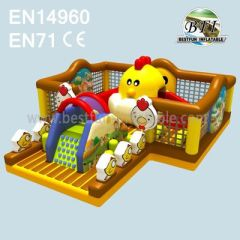 Children Inflatable Chicken Farm Bouncer