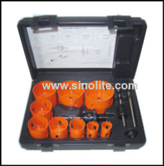 "13pcs Journeyman's Hole Saw Kits; 3/4"" 7/8"" 1-1/8"" 1-3/8"" 1-1/2"" 1-3/4"" 2"" 2-1/4"" 2-1/2"" (19-22-29-35-38-44-51-57-64mm)"