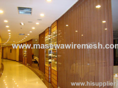 Decorative divider metal curtain aluminum partition