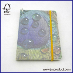 A5 hardcover notebook with metal circle