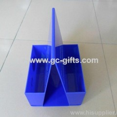 Blue exquisite acrylic display frame with two parts