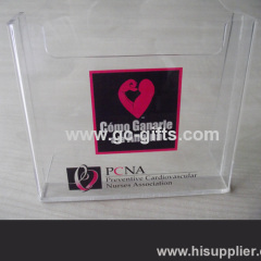 The structure specific clear acrylic of brochures