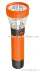4+4 led rechargeable torch flashlight