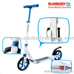 High quality EN14619 adult kick foot scooter with suspension