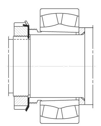 Mounting bearings with withdrawal Sleeve