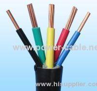 PPOO PVC insulated PVC sheath power cable