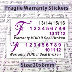 Fragile Brittle Warranty Labels