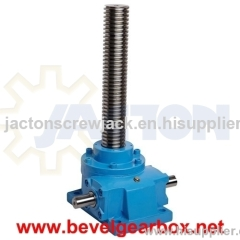 jackscrew and self locking, self locking gear jack, self locking jack, machine screw lift, amce screw lift