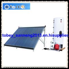 Split pressurized solar water heater system