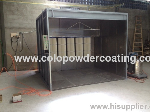 easy operate powder coating spray booth design