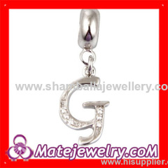 European letther dangle charm beads