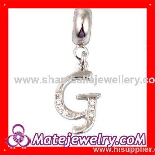European letther dangle charm beads