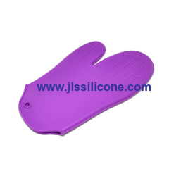 purple and embossment silicone oven pot holders