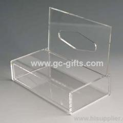 Nice clear acrylic tissue box of smooth surface