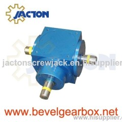 90 degree pump drive, power transmission 90° gearbox, 2 way miter gear box, 5:1 ratio right angle gearbox