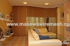 metal wire mesh as decorative divider