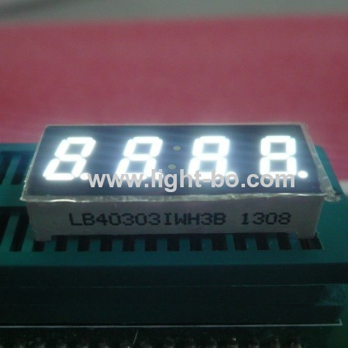 Ultra Bright Blue 4-digit 0.3-inch Common Anode 7 segment led display for medical instrupent panel