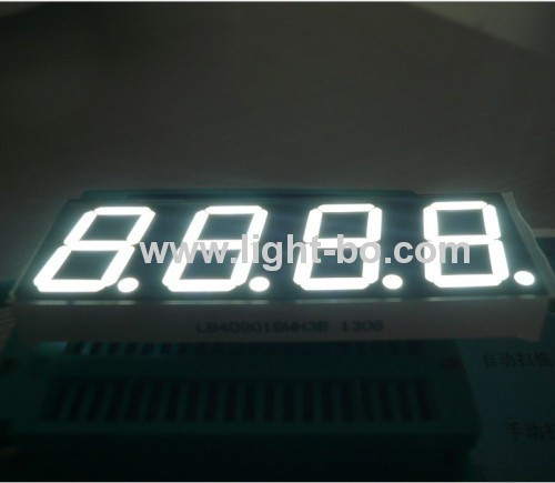 Ultra Bright Blue 4-digit 0.8-inch(20.4mm) Common Anode 7 segment led display for home appliances