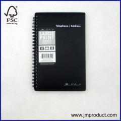 PP telephone/ address spiral notebook