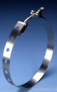 Stainless Steel Clamp adjusts over wide range.