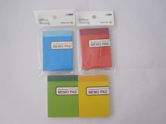 Memo pad 120 pages color series