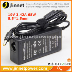 19V 3.42A 65W Replacement Laptop Charger Adapter for Notebooks Laptop
