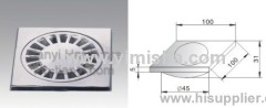 100mmx100mmx5mm Zinc Alloy Chrome Plated Floor drain