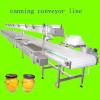 Canning food conveyor line