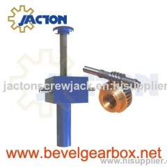 keyed screw jack, rotary screw jack, rotating screw jack, travelling nut screw jack