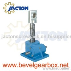 90 degree screw type gearbox, 2 inches machine screw jacks, jack screw arrangement, screw jack lift