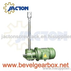 motorised screw jack, electric motor screw jack, motor drive screw jack, worm gear motor jack