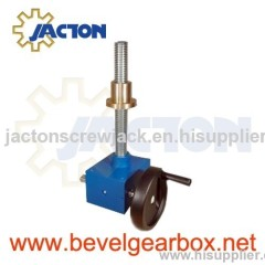 mini worm gear linear actuator with hand wheel, mini manually operated screw driven jacks
