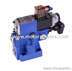 Max. flow 600 L/min pilot operated pressure relief valve